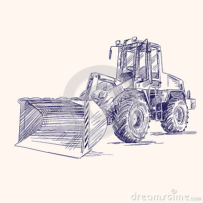 Loader bulldozer excavator machine