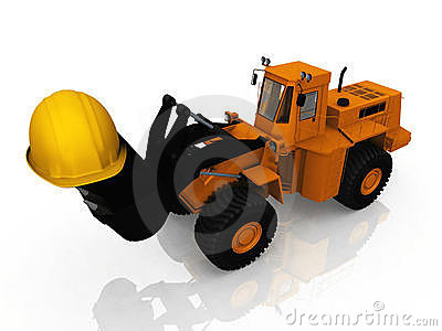 The loader and helmet