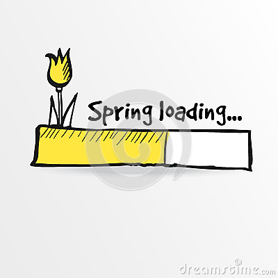 Free Loading Bar With A Doodle Tulip Flower, Spring Concept,  Royalty Free Stock Photography - 48933517