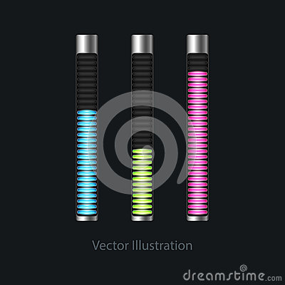 Loading bars for web design. Vector