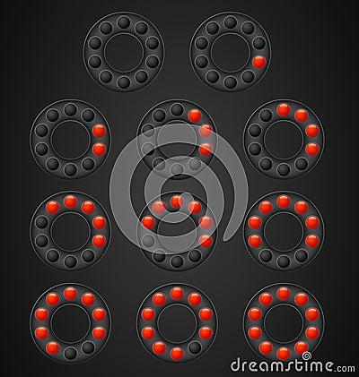 Loading circles