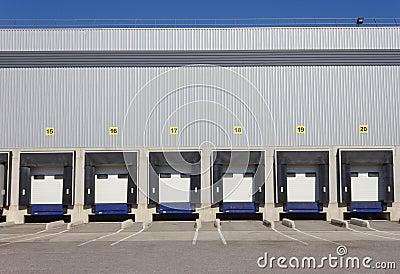Loading Dock Doors Stock Images Image 26744444