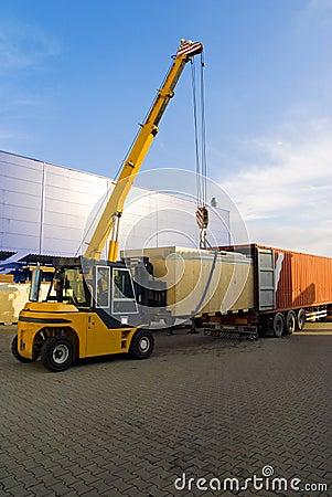 Loading goods work