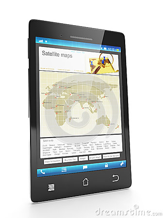 Loading new city maps on a mobile phone