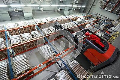 Loading sacks with forklift loader