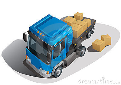 Loading truck with boxes