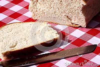 Loaf of bread sliced