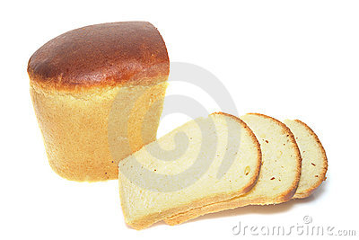 Loaf and Slices of White Bread