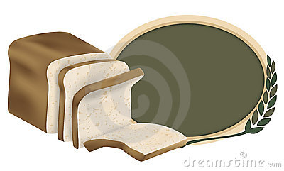 Loaf of Whole Grain Wheat Bread Logo Design