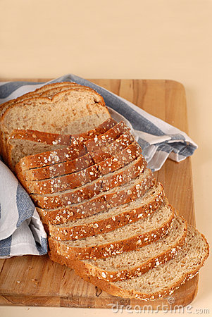 Loaf of whole wheat bread
