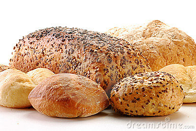 Loafs of bread and rolls