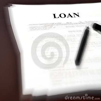 Loan Document Agreement On Desk With Pen Stock Photo - Image: 48900321