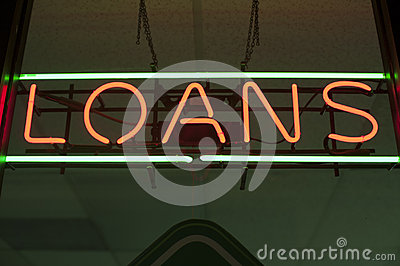 Loans neon sign