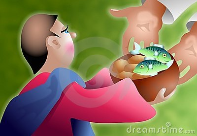 Loaves and Fishes Stock Photo