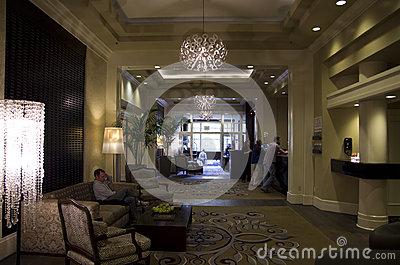 Lobby of Alexis Hotel Editorial Photography