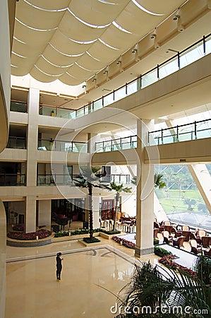 The lobby at Dongguan Sofitel Royal Lagoon Editorial Stock Image