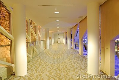 Lobby of Edmonton City Hall night view