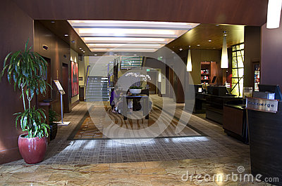 Lobby of Hotel 1000 Seattle Editorial Image
