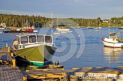 Lobster boat at dock