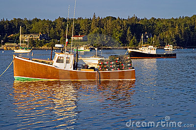 Lobster boats at dawn