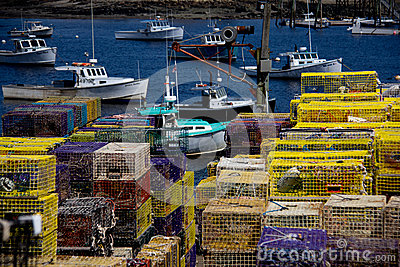 Lobster boats in maine stock photo image 42632789 for Best time to visit maine for lobster