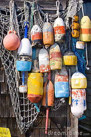 Free Lobster Buoys Stock Image - 6911371