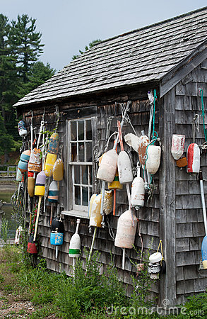 Free Lobster Buoys And Fishing Shack Stock Image - 22905761