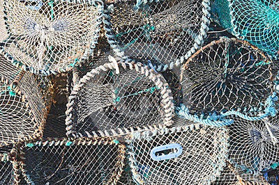 Lobster pot background