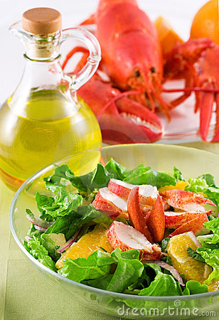 Free Lobster Salad Royalty Free Stock Photos - 845158