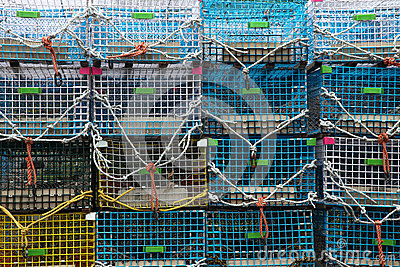 Lobster trap background