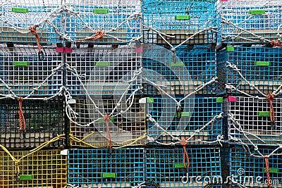 Lobster trap background