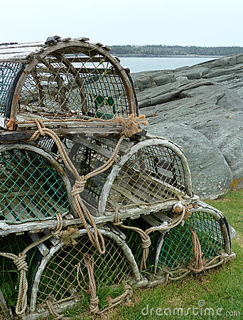 Free Lobster Traps Royalty Free Stock Images - 21763849