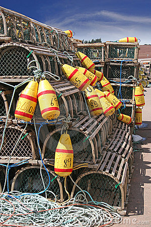 Free Lobster Traps Royalty Free Stock Images - 4740999