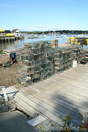 Free Lobster Traps And Floats Stock Image - 1527291