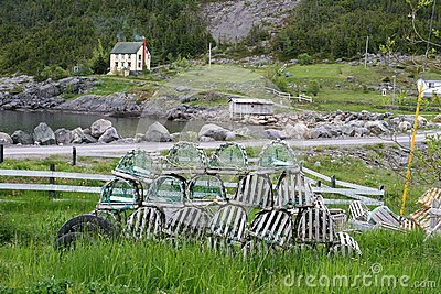 Lobster traps waiting for a new season
