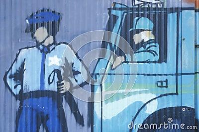 Local 808 Union art in Queens Editorial Stock Image
