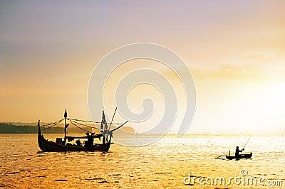 Local boat in Bali