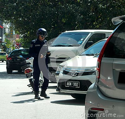 Free Local City Council Law Enforcement Officer In Ipoh Stock Photos - 109051783