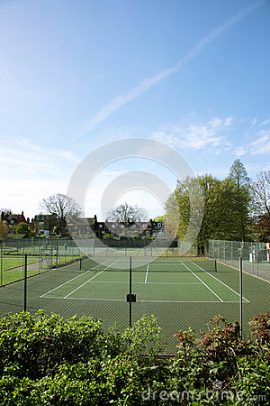 Local Community Tennis Court View