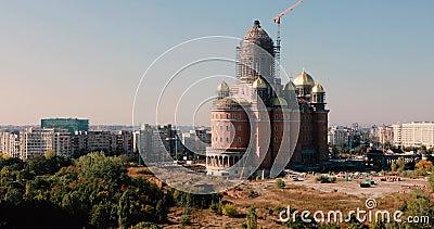 Local de construção da Catedrala Mantuirii Neamului  Catedral de Salvação do Povo, vídeos de arquivo