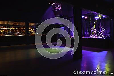 Local de encontro vazio da música