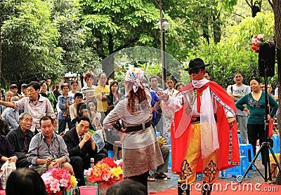 Chinese Fashion show Chengdu China Editorial Image