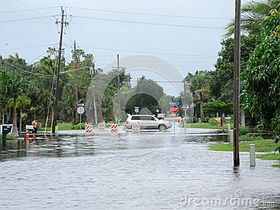 Local flooding hurricane debby Editorial Photography