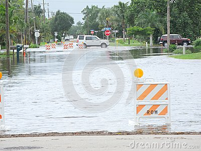 Local flooding hurricane debby Editorial Stock Image