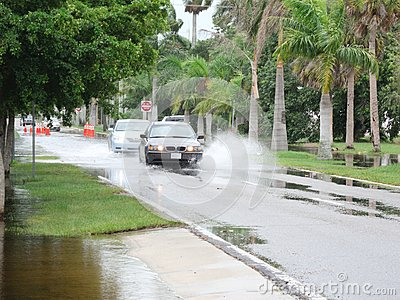 Local flooding hurricane debby Editorial Stock Photo