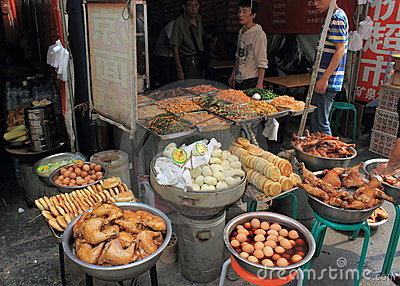 Local food market in China Editorial Image