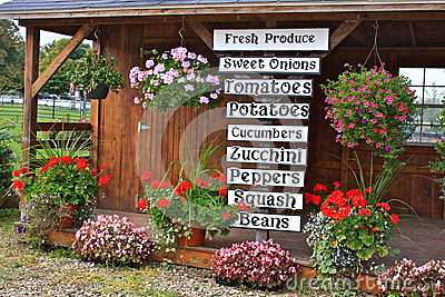 Local Fresh Produce Storefront Stand