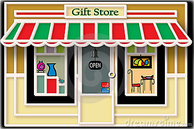 Local Gift Store Illustration