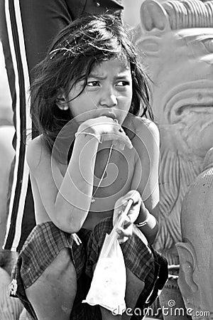 Khmer Girl Editorial Stock Photo