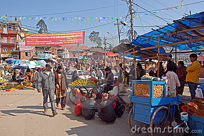 Local Market-Kathmandu Editorial Stock Image